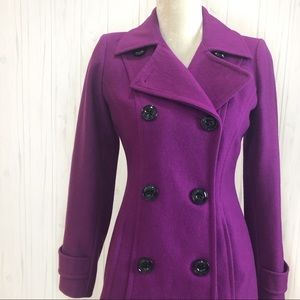 Anne Klein Double-Breasted Wool Pea coat XS